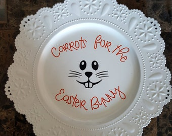 Easter Bunny Carrot Plate