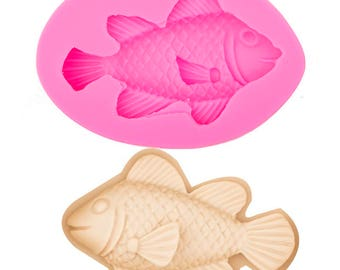 Fish Scale Fondant Embosser Texture Cake Silicone Molds Cupcake Mould Baking Tools