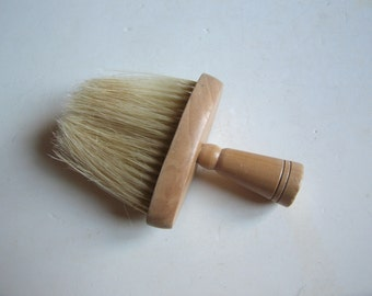 vintage wooden barber's brush