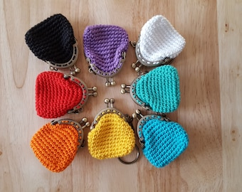 Mini coin purse keyring
