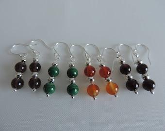 Semi Precious Gemstone Bead Earrings