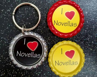 I love Novellas keychain and magnets
