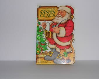 Here Comes Santa Claus hardback book by M. Hover - Excellent condition! see my shop for MORE Vintage Christmas! World Wide Priority Shipping