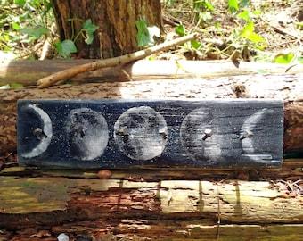 Rustic Pallet Wall Jewelry/ Key Hanger - Moons