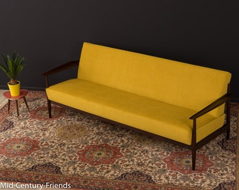 60s sofa, couch, 50s, vintage, mustard (503016)