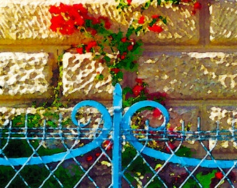 Bleu Cloture a' Monte Carlo  ( Blue Fence in Monte Carlo )