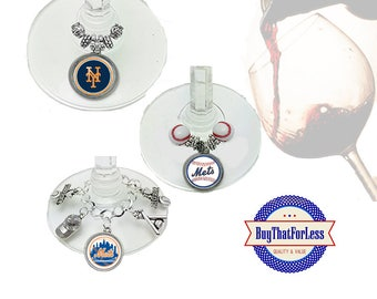 NEW YORK Wine or Bottle Charms, Napkin Rings, Set of 6, U Choose Style +FREE SHiPPING & Discounts*