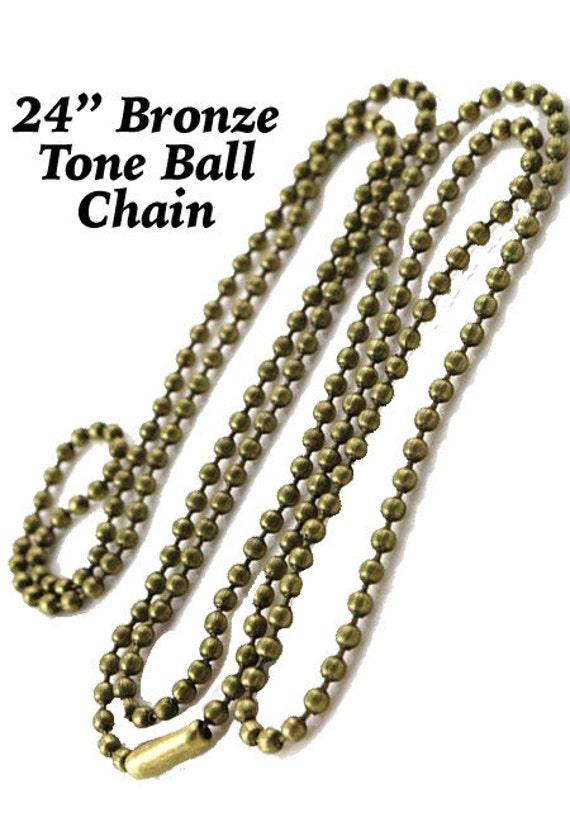 "Ball chain, 24"", Bronze  +Discounts & FREE Shipping*"