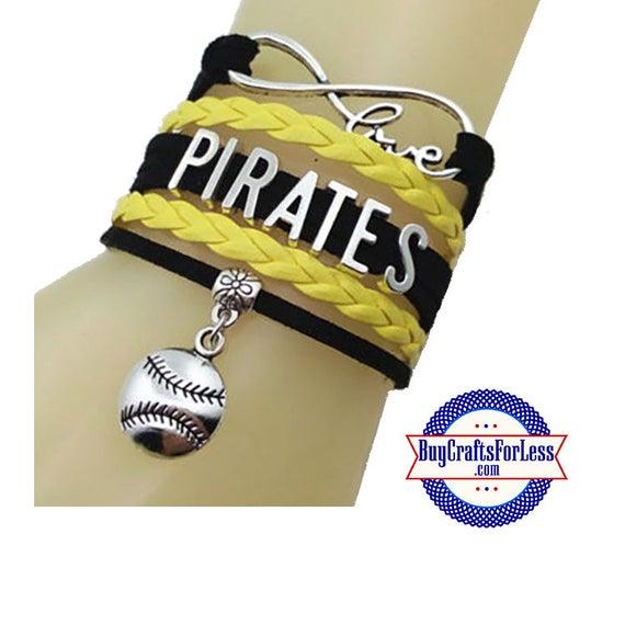 PITTSBURGH Leather Bracelet-U Choose CHARM +Discounts & FREE Shipping*