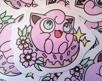 Kawaii Jigglypuff Vinyl Sticker