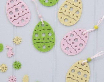 Easter Decorations - Easter Egg Decorations - Set of Six