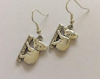 Koala earrings/ koala jewellery/ koala lover gift / animal earrings/ animal jewellery/ animal lover gift