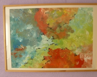 Eddy, abstract painting full of color and movement