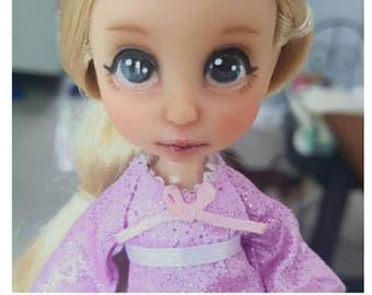 "Disney Animator Rapunzel mini doll repaint/ Ooak repainted Rapunzel doll 5"""