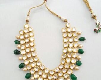 Multi strand kundan necklace  .