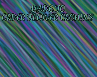 Custom flower crown/head piece