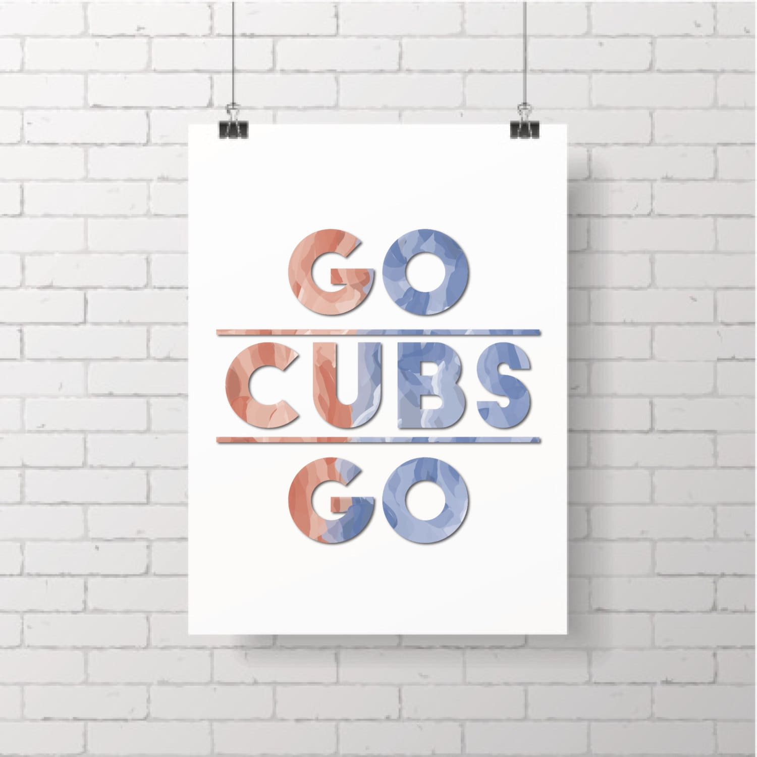 Go Cubs Go Chicago Cubs Printable Wall Art Jerusalem House