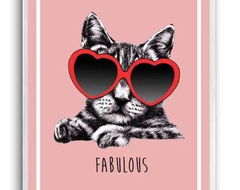 Fabulous Feline Good A6 Greetings Card