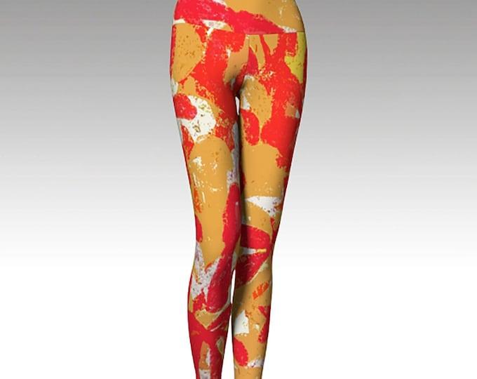 Kansas City Chiefs Leggings, Printed Leggings, Red and Gold Yoga Pants, Yoga Leggings,  Game Day, Women's Leggings, Gift for her