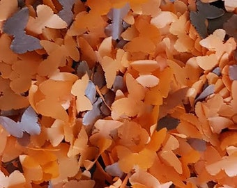 Orange & Brown  tissue paper butterfly handmade confetti party and table decor Wedding /Birthday etc..