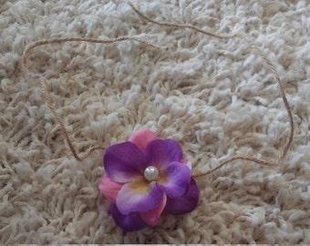 Pink & Purple Hydrangea Tieback Headband
