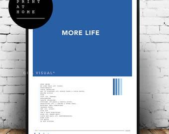 Printable Print At Home Drake More Life Album Art Poster Simple Minimal