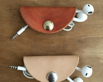 Leather Cord Organizer/ Earphone Cord Organizer