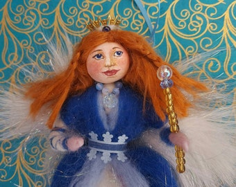 Wool Fairy Queen doll