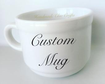 Custom mug, personalized coffee mug, custom logo mug, coffee mug, wedding gift, vinyl, personalized gift, custom coffee mug