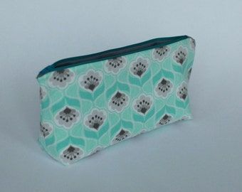 SALE - Teal Zippered Pouch