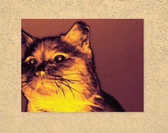 Modern art, Cat poster, wall decor, Art print