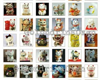 Collage Maneki Neko (Lucky Cats)