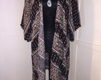 Long Boho Kimono size Lg
