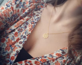 LACE COIN gold filled necklace
