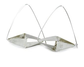 Big diamond shape solids hoops