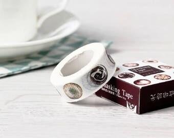 Coffee Time Japanese Washi Tape,Masking Tape, Decorative Tape, Sticker, Planner Sticker, Coffee, Spring, Korean Stationery,Latte