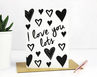 Anniversary Card - Love Card -Romantic Card -Love You Card - Typographic card - Wife,Husband - Partner,Girlfriend,For Her/Him
