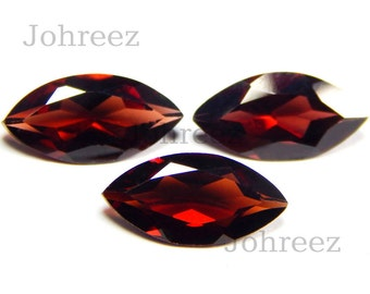 15 Piece Natural Garnet Marquise Shape Faceted Cut Loose Gemstone High Quality