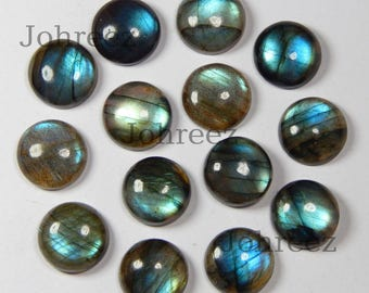 10 pieces lot natural labradorite round flat back gemstone cabochon smooth polished