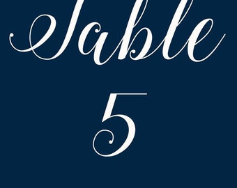 Wedding Table number / Table number / Minimal Table number