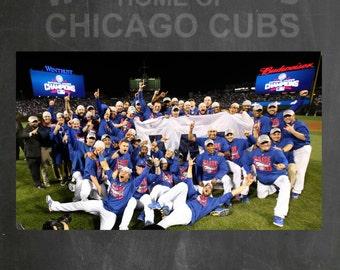 2016 Cubs World Series Chalkboard Canvas