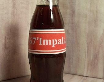 67' Impala Tribute to the Coke Bottle Body Impala made with 10oz Coke Bottle for Display