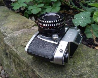 Ihagee Exa IIb film SLR camera. Made in Germany. Comes with Domiplan 50mm F2.8 lens.