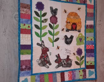 Whimsical spring wall hanging