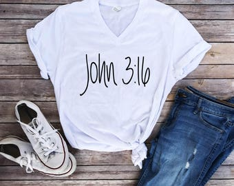 Gift for her, gift for women, John 3:16, christian shirts, womens gifts, inspirational clothing, trendy clothes, clothing, bible verses,