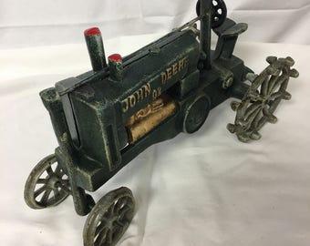 Vintage John Deere No. 2 Cast Iron Tractor