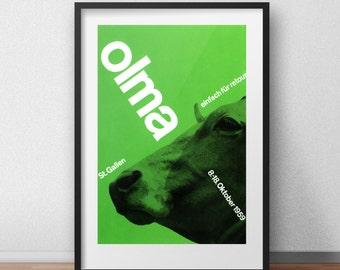 Olma Switzerland Graphic Design Poster by Josef Müller-Brockmann Green