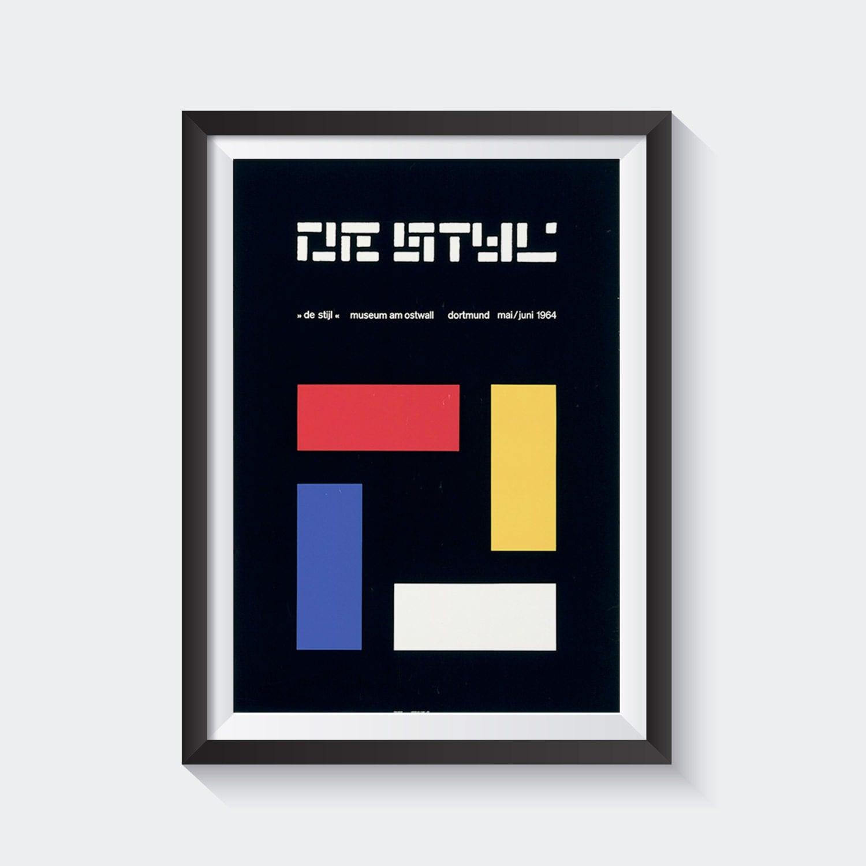 de stijl Mid Century Graphic Design Print Dutch The Style Art