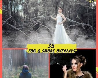 35 Fog Overlays, Smoke Overlays, Photoshop overlay, Realistic Cigarette Smoke, Mist Smoke, Mystic Foggy Clouds Effect, Instant Download