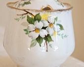 Royal Albert vintage Dogwood floral sugar bowl or jam pot with lid. English bone china. For Tea lovers, tea party, high tea, wedding